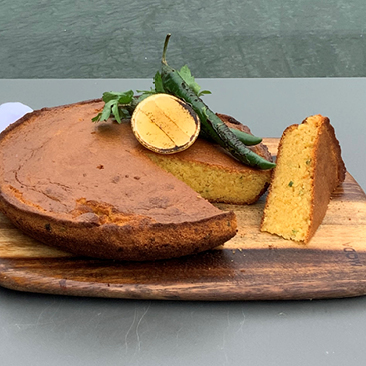 Green chilli cornbread